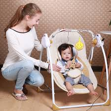 New Style Portable Electric Baby Swing Chair Bouncer Music Rocking ...