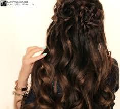 Flower Hair Style spring flower braid halfup halfdown hairstyle tutorial video 4992 by wearticles.com