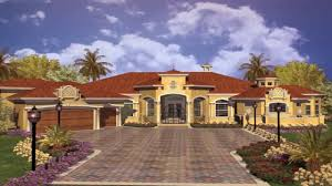Spanish Style House Plans Small Youtube Center Cour: Full Size ...