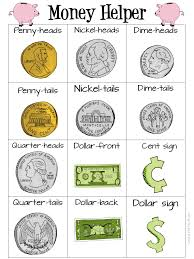 Money Chart For Kids Printable Money Helper Pdf Printable To Help Teach Kids About Us