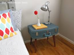 Suitcase Nightstand diy suitcase side table the weathered door 6880 by guidejewelry.us
