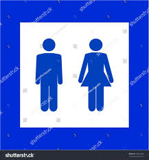 blue mens bathroom sign. Blue Mens Bathroom Sign White Silhouette Men Women Stock Vector Set Of Toilette And S Collection I