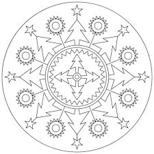 Disegno Di Mandala Natalizio Da Colorare Disegni Da Colorare E