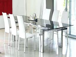 modern round glass dining table set black and red tempered chairs glass dining room tables toronto