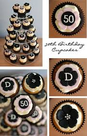 50th Birthday Cupcakes In 2019 50th Party Cakes 50th Birthday