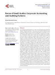 Pdf Enron Of Saudi Arabia Corporate Accounting And