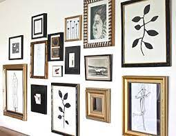 gold frame gallery wall