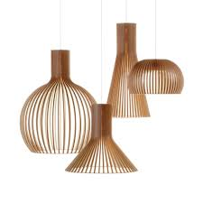 scandinavian lighting fixtures secto wooden pendant light