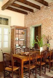 Dekoratives Esszimmer Mit Ziegelmauer 50 Originelle Ideen
