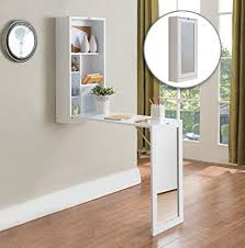 wall desk mirror. Perfect Wall Kings Brand White Finish Wood FoldOut Convertible Wall Mount Desk With  Mirror In