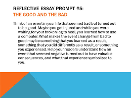 rsvp running start virtual project lesson the reflective reflective essay prompt 5 the good and the bad