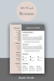 Professional Resume Template Instant Download 3 Page Resume