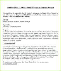 Property Manager Job Description Samples Apartment Property Manager Resume Skinalluremedspa Com