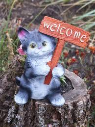 <b>Фигура садовая</b> Котёнок с табличкой УЮТ 9495617 в интернет ...