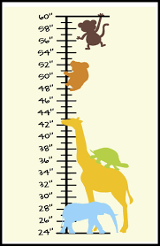 Vinyl Growth Chart Vinyl Gifts And More Jungle Growth Chart