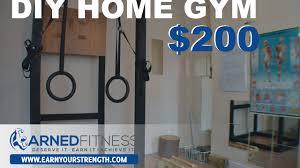 earnyourstrength diy home calisthenics gym