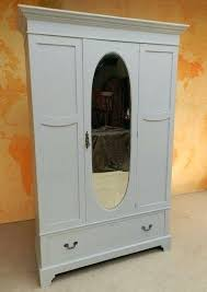 white wood wardrobe armoire shabby chic bedroom. Armoire Closets Bedroom Stunning Painted Antique Mirror Wardrobe Shabby Chic White Furniture Wood