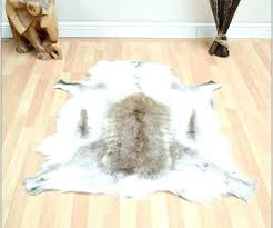 grey and white faux cowhide rug fur hide in medium size of garage animal rugs bear with head fake cow