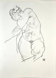 Female Nude - Original Collotype Print After Egon Schiele- 1920 1920 for  sale at Pamono
