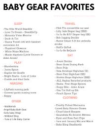 Printable Baby Favorites Checklist Arinsolangeathome