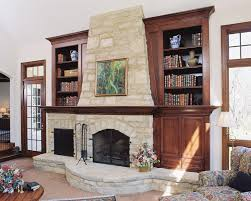 makeover your living room with modern rustic fireplaces bookshelves michael matrka interior design decor stone covered fireplace bookshelf around white