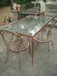 attention grabbing vintage woodard wrought iron patio furniture fabulous chantily rose woodard patio vintage mid cent