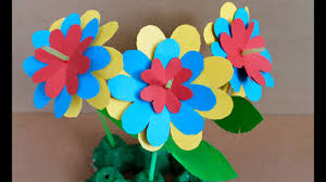 Chart Paper Flowers Step By Step Easy Paper Craft How To Make Paper Flowers