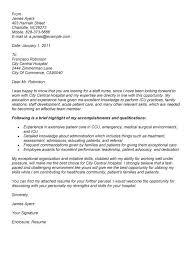 sample cover letters for nurses new graduate nursing cover letter cover letter example nursing