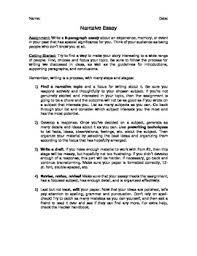 narrative essay assignment by megan altman teachers pay teachers narrative essay assignment
