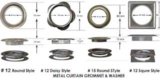 All Style Curtain Grommet Washers Size Chart Grommet Mart