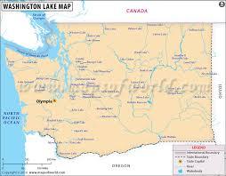Washington State Mileage Chart Washington Lakes Map Lakes In Washington State