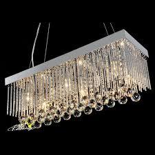 modern rectangle crystal chandelier 7987