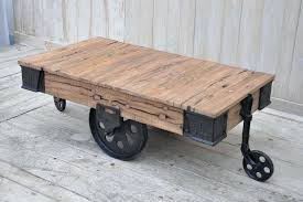 industrial cart coffee table vintage factory with storage australia
