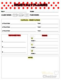 Daily Planner Printout Disney Planning Printables Mickey Chatter