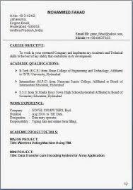chemical operator resume