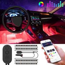 Amazon Car Lights Interior Car Lights Govee Car Led Strip Light Upgrade Two Line Design Waterproof 4pcs 48 Led App Controller Lighting Kits Multi Diy Color Music