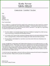 Example Teacher Cover Letters Teacher Resume Cover Letter Sample Incomparable First Grade