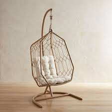 Swingasan Light Brown Hexagon Hanging Chair