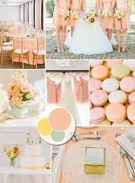 peach wedding colors. Champagne and Light Blue and other Great Color Combos for Weddings