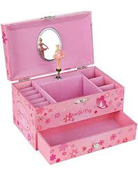 songmics ballerina jewelry box storage case with drawer gift for little s princess