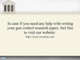 gun control research paper 9