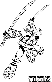 ninja turtles coloring pages leonardo. Contemporary Leonardo Teenage Mutant Ninja Turtles  Katana Blades Is Leonardo Weapon Of Choice Coloring  Page And Turtles Pages R