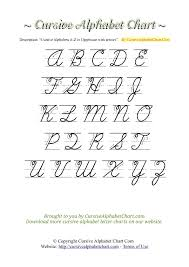 Capital And Lowercase Cursive Letters Chart Charts With Arrows Tag Cursive Alphabet Chart Com