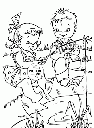 Small Picture Fun Summer and Fishing coloring page for kids seasons coloring