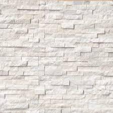 arctic white ledger panel natural quartzite wall tile white 30 pieces brick