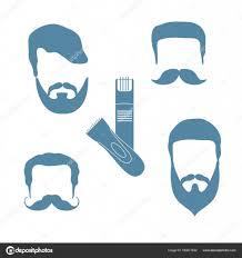 男性の髪型ひげ髭t のかわいいベクトル イラスト ストック