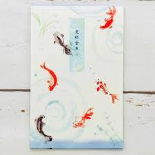 楽天市場便箋 更紗金魚 フロンティア 夏柄 和柄 和風 日本 デザイン