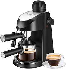 Get milk frothers and enjoy deliciously smooth cappuccinos and lattes at home with just the push of a button. Aicook Espresso Machine 3 5 Bar 4 Cup Espresso And Cappuccino Coffee Maker 2 In 1 Semi Automatic Coffee Machine With Milk Frother Stainless Steel Espresso Maker With Steamer Buy Online In India At