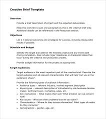 Business Brief Example Sample Creative Brief 9 Free Documents In Pdf Word