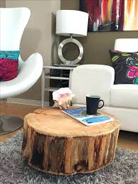diy tree stump coffee table collection in